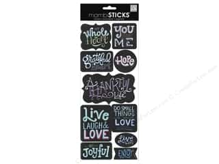Generations Black: Me&My Big Ideas Sticker Sayings Chalk General
