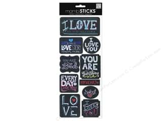 Love & Romance Back To School: Me&My Big Ideas Sticker Sayings Chalk Love
