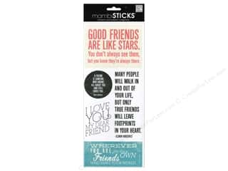 MAMBI Sticker Sayings Good Friends Are Like Stars