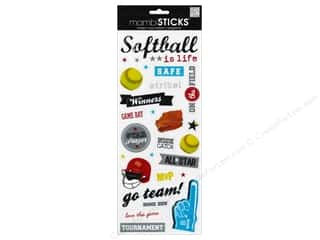 Mothers Day Gift Ideas Scrapbooking: MAMBI Sticker Softball Game Day