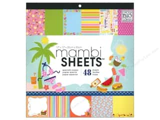 MAMBI Sheets Cdstk Pad 12x12 Summer Days PalmTree1