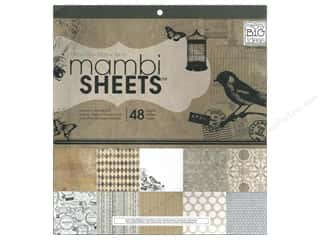 Me & My Big Ideas Papers: Me & My Big Ideas Sheets Cardstock Pad 12 x 12 in. Vintage Birdcage