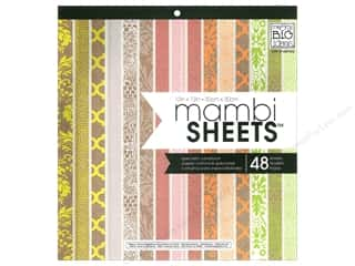 MAMBI Sheets Cdstk Pad 12x12 Neon Craft