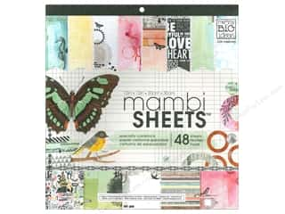 MAMBI Sheets Cardstock Pad 12 x 12 in. Mixed Media