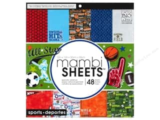 MAMBI Sheets Cardstock Pad 12 x 12 in. All Star Sports