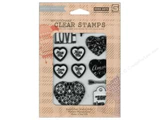 Clearance Jenni Bowlin Clear Stamp: BasicGrey Clear Stamps 11 pc. True Love Amore