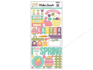 "Echo Park Sticker 6""x 12"" Happy Easter (15 set)"