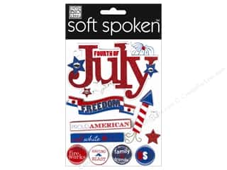 MAMBI Soft Spoken 4th of July Freedom Embellishments