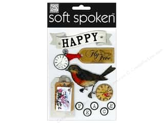 Clockmaking Paper Accents Clock Faces: Me&My Big Ideas Sticker Soft Spoken Vintage Fly Free