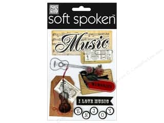 Sewing Construction Music & Instruments: Me&My Big Ideas Sticker Soft Spoken Vintage Music