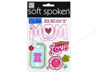 Best of 2012 Bo Bunny Paper & Sticker Collection Pack: MAMBI Sticker Soft Spoken World's Best Mom