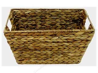 SPC Basket Rectangle Iron Frame & Inset Handle Nat
