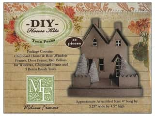 Holiday Sale Paper Mache Ornaments: Melissa Frances Chipboard Twin Peaks House Ornament