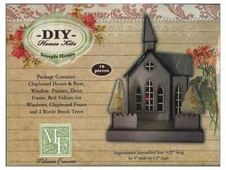 Melissa Frances Steeple House Chipboard Ornament