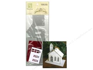 Holiday Sale Paper Mache Ornaments: Melissa Frances Chipboard Church House Ornament