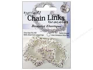 Dazzle It Bracelet Chain Link Elastic Silver