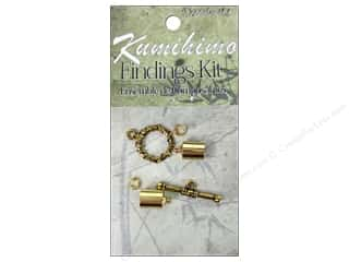 Projects & Kits mm: Dazzle It Kumihimo Finding Kit 7mm Gold