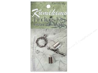 Dazzle It Kumihimo Finding Kit 7mm Silver