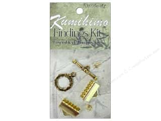 Crafting Kits $16 - $288: Dazzle It Kumihimo Finding Kit 16mm Gold