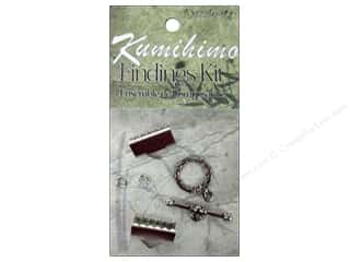Projects & Kits mm: Dazzle It Kumihimo Finding Kit 16mm Silver