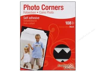 photo corners decorative: 3L Scrapbook Adhesives Photo Corners Paper Black 108pc