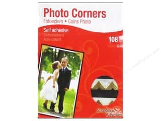 2013 Crafties - Best Adhesive: 3L Scrapbook Adhesives Photo Corners Paper 108 pc. Gold