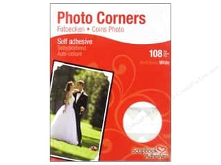 photo corners decorative: 3L Scrapbook Adhesives Photo Corners Paper White 108pc