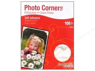 3L Scrapbook Adhesives Photo Corners Paper Ivory 108pc