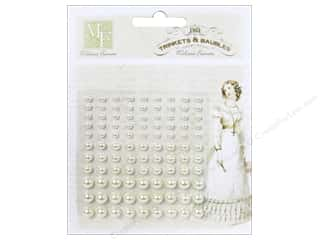 Stickers: Melissa Frances Trinkets & Baubles Adhesive Pearls Cream