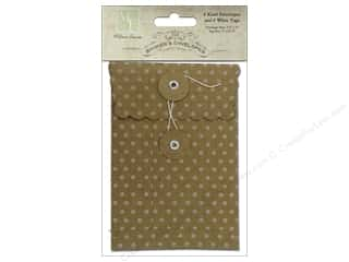 "Melissa Frances Embellishments Printed Envelopes 3.5""x 5"" Attic Treasures"