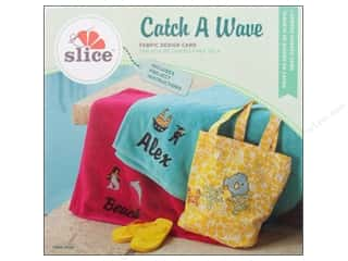 Dies ABC & 123: Slice Fabric Design Card Catch A Wave