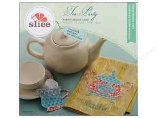 Tea & Coffee Sizzix Die: Slice Fabric Design Card Tea Party