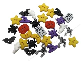 Sew-on Buttons: Jesse James Embellishments Halloween Fright Night