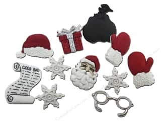 Jesse James Dress It Up Christmas Embellishments Waiting for Santa