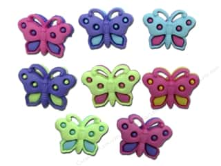 Clearance Blumenthal Favorite Findings: Jesse James Embellishments Button Fun Butterfly