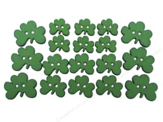 Saint Patrick's Day Miscellaneous Sewing Supplies: Jesse James Dress It Up Embellishments Button Fun Shamrocks