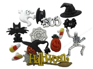 Clearance Blumenthal Favorite Findings: Jesse James Embellishments Memory Mate Halloween