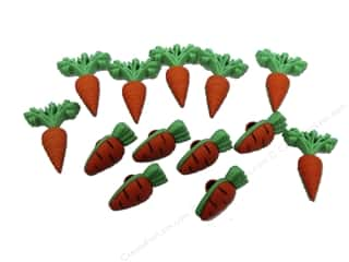Fruit & Vegetables Back To School: Jesse James Dress It Up Embellishments Easter Collection Carrot Crop