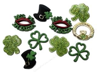 Saint Patrick's Day Miscellaneous Sewing Supplies: Jesse James Dress It Up Embellishments St Patrick's Day Collection When Irish Eyes are Smiling