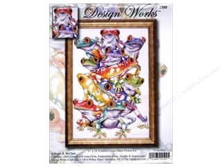 "Design Works Cross Stitch Kit 11x16"" Frog Pile"
