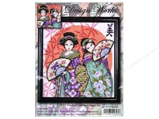 "weekly specials Inkadinkado Stamping Gear Stamp: Design Works Cross Stitch Kit 9x9"" Two Geishas"