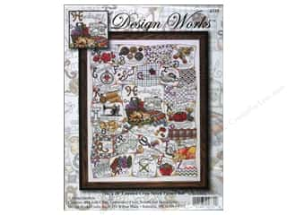 square hoop: Design Works Cross Stitch Kit 16x20 Stitching ABC