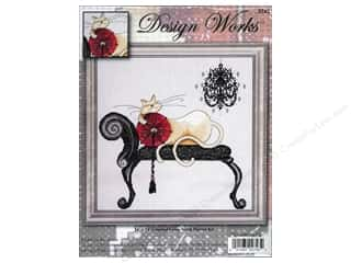 Design Works Cross Stitch Kit 14x14 Chndlier Cat