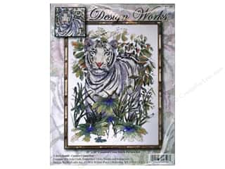 "Design Works Cross Stitch Kit 15x20"" White Tiger"