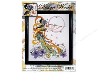 "Design Works Cross Stitch Kit 16x20"" Flute Player"