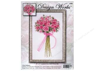 Design Works Cross Stitch Kit 10 x 17 in. Rose Bouquet