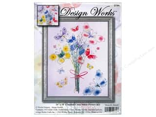 Design Works Cross Stitch Kit 14 x 18 in. Butterfly Bunch