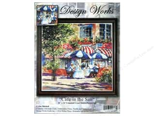 Weekly Specials Bear Thread Designs: Design Works Cross Stitch Kit 14 x 14 in. Cafe In Sun