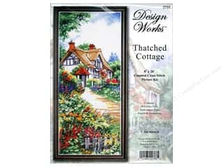 Weekly Specials Bear Thread Designs: Design Works Cross Stitch Kit 8 x 20 in. Thatch Cottage