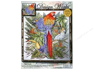 Design Works Cross Stitch Kit 16 x 17 in. Parrots
